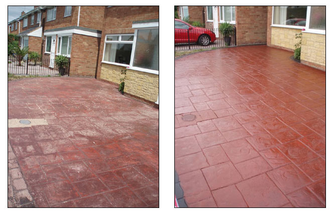 Patio and driveway cleaner bromley chislehurst dartford for Best way to clean concrete driveway without pressure washer