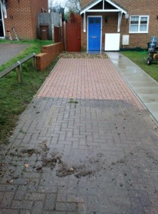 Driveway Cleaning Before after