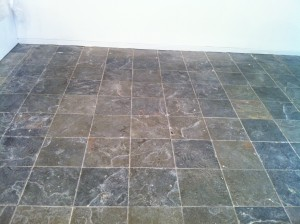 slate floor cleaner Before